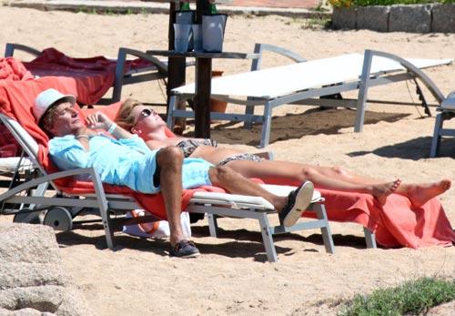 Rod Stewart y Penny Lancaster, romántica escapada a la costa italiana