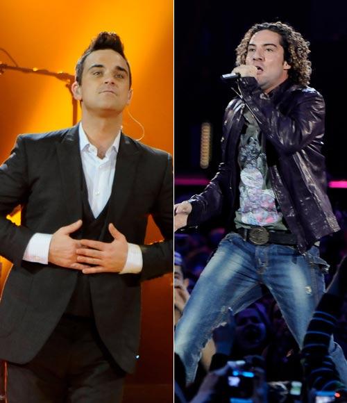 Robbie Williams, Shakira, Paulina Rubio, Marta Sánchez y Carlos Baute revolucionan la gala de los Premios 40 Principales