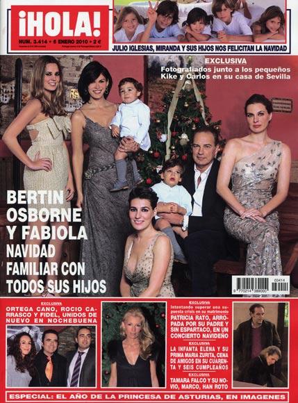 Exclusiva en ¡HOLA!: Bertín Osborne y Fabiola, Navidad familiar con todos sus hijos
