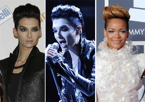 Bill Kaulitz, Tokio Hotel, le 'copia' el peinado a Rihanna