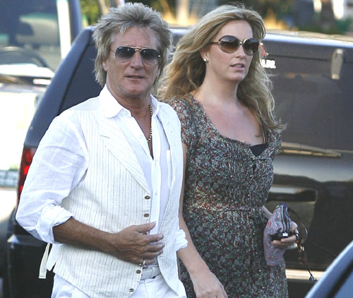 Primeras imágenes de Rod Stewart y Penny Lancaster tras anunciar que serán padres de nuevo