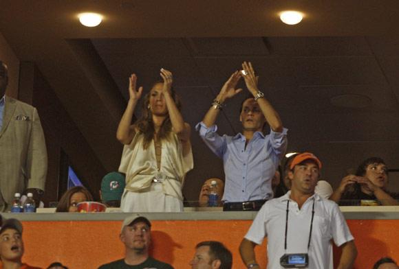 Jennifer López y Marc Anthony, tarde de juegos, fútbol y espectáculo con su hija Emme