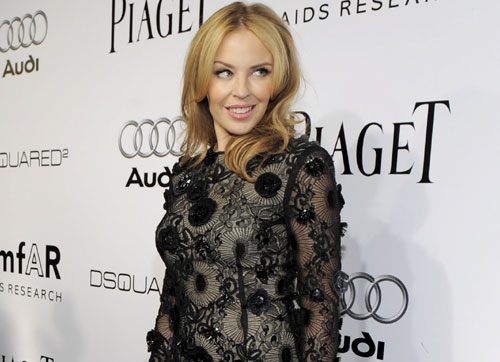 Kylie Minogue y Sharon Stone, duelo de belleza en la gala Amfar de Hollywood
