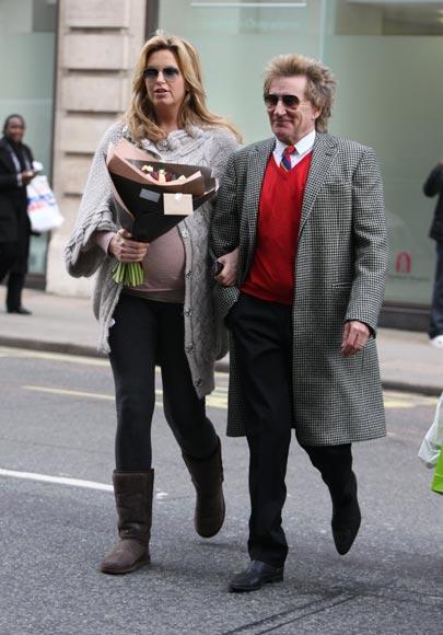 Exclusiva en Hello!: Rod Stewart y Penny Lancaster han sido padres por segunda vez