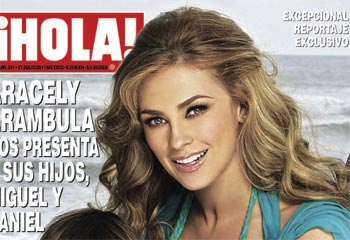 Reportaje exclusivo en ¡HOLA! México: Aracely Arámbula nos presenta a sus hijos Miguel y Daniel