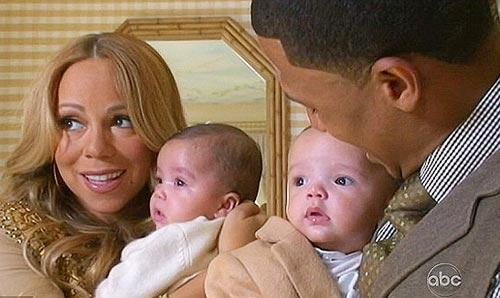 Mariah Carey presentó a sus hijos