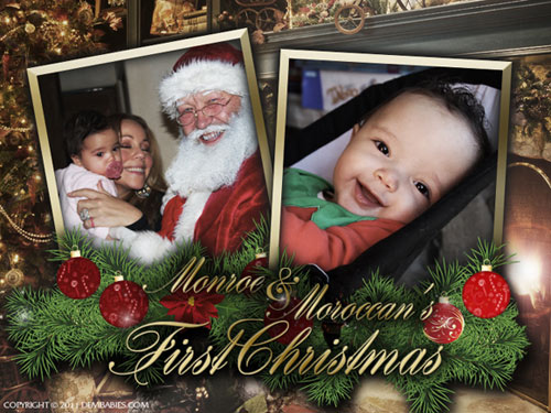 Mariah Carey nos muestra la primera Navidad de sus mellizos, Monroe y Moroccan