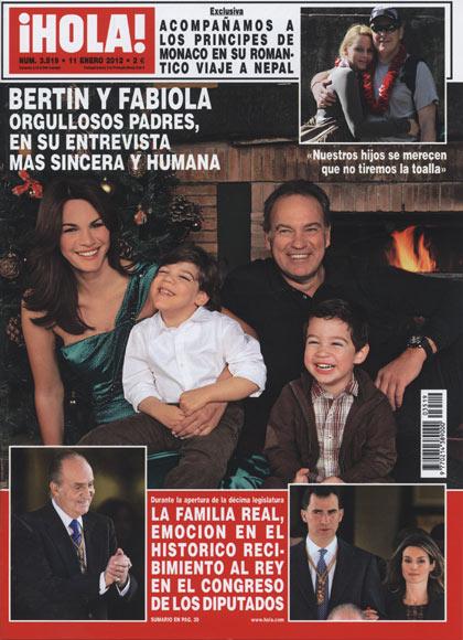 En ¡HOLA!: Bertín y Fabiola, orgullosos padres, en su entrevista más sincera y humana