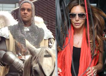 Robbie Williams, todo un caballero con su mujer, cuando falta poco para el nacimiento de su primera hija
