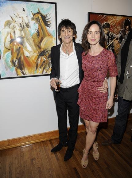 El Rolling Stone Ronnie Wood se casa con su novia, 31 años menor que él