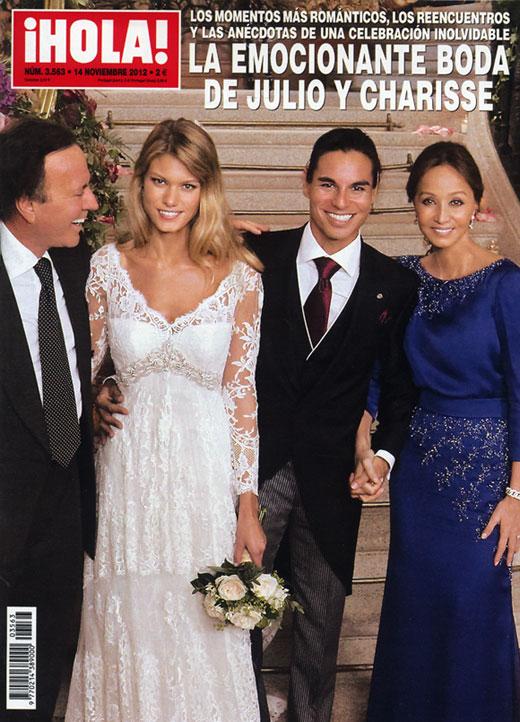 En ¡HOLA!, la emocionante boda de Julio y Charisse