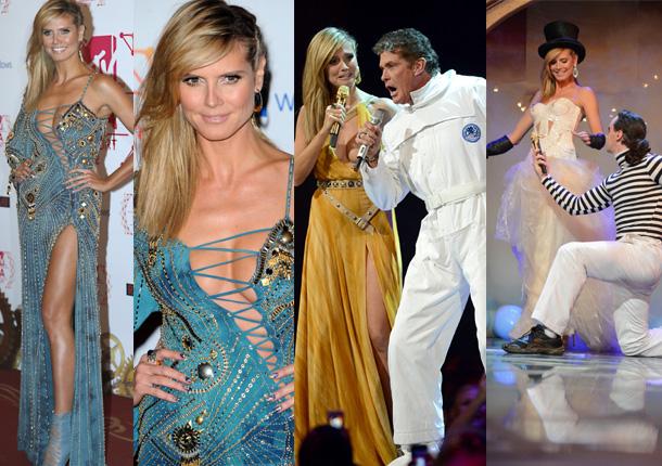 Heidi Klum, domadora de lujo en la entrega circense de los premios EMA de la MTV