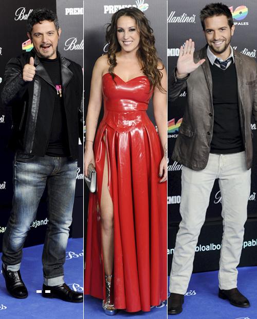 Actuaciones estelares, 'looks' atrevidos y desfile de parejas en los Premios 40 Principales
