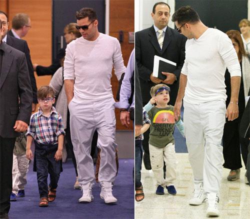 Ricky Martin y sus gemelos 'modelo' presumen de estilo