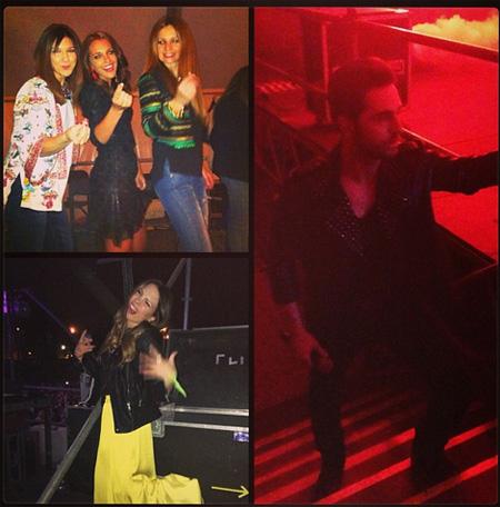Paula Echevarría se divierte con sus amigas en el concierto de David Bustamante