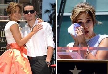 Las lágrimas de emoción de Jennifer López al descubrir su estrella de la fama