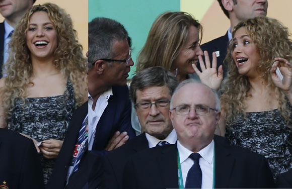 Nervios, tensión, alegría… Shakira vivió con emoción la victoria de España