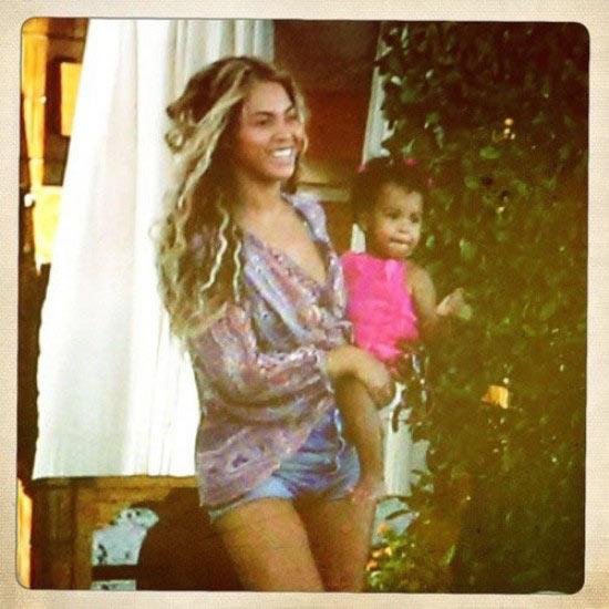 Beyoncé de vacaciones con su hija Blue Ivy, una presumida y coqueta 'muñeca'