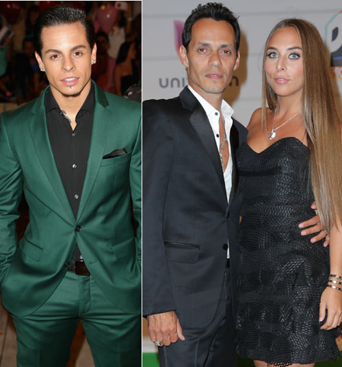 casper Smart y Marc Anthony con Chloe