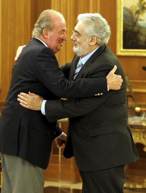Plácido Domingo, en audiencia con el rey don Juan Carlos: 'Me encuentro muy bien'