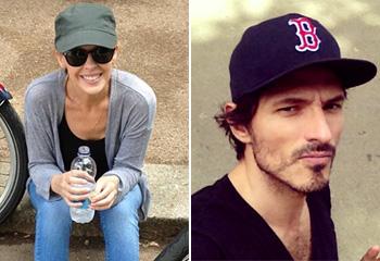 Kylie Minogue y Andrés Velencoso desmienten su ruptura con un paseo en 'bici' por Londres