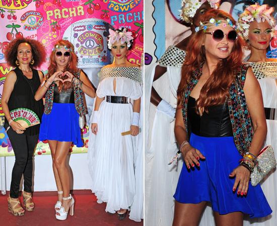 Paulina Rubio da rienda suelta a su espíritu hippie en la tradicional fiesta 'Flower Power' de Ibiza