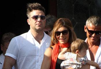 Robbie Williams disfruta en Venecia de su primer verano como papá
