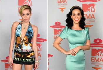 Las extravagantes estrellas vuelven a 'eclipsar' a la música en la entrega de los EMA
