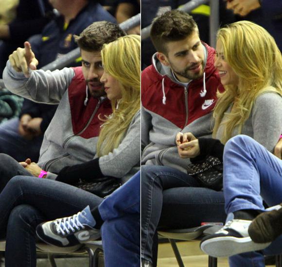 Shakira y Piqué, tarde de 'basket' y mucho amor en Barcelona