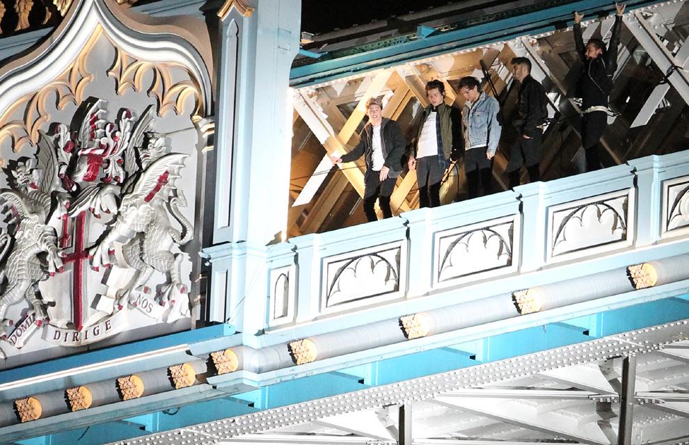 One Direction se sube al Puente de la Torre de Londres en su videoclip más arriesgado