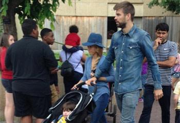 El pequeño Milan descubre Washington con sus papás, Shakira y Piqué