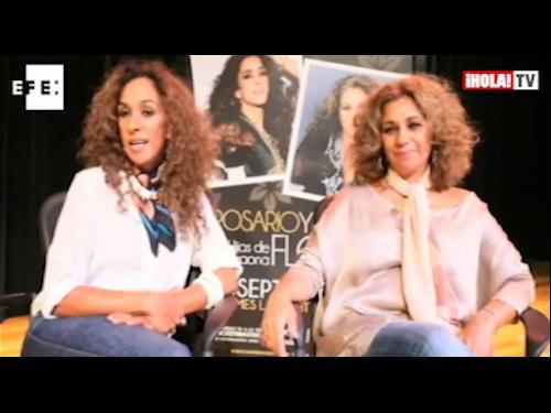 Rosario y Lolita Flores: 'Cuando nos ven juntas en el escenario, la gente ve a Lola Flores'