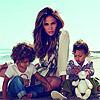 Jennifer López y sus mellizos se 'estrenan' como imagen de Gucci Kids