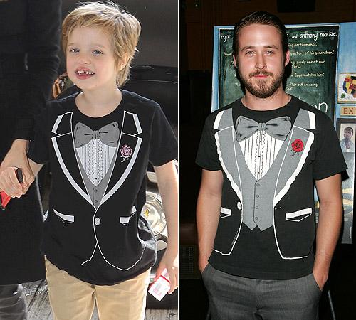 ¿A qué famoso actor le ha copiado el 'look' la pequeña Shiloh?