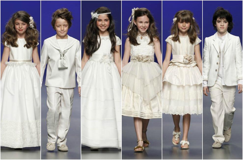 vestidos de ceremonia y comunion de barcarola con trajes de