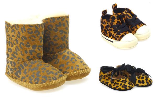 Zapatos 'animal print', arrasan entre los peques de la casa