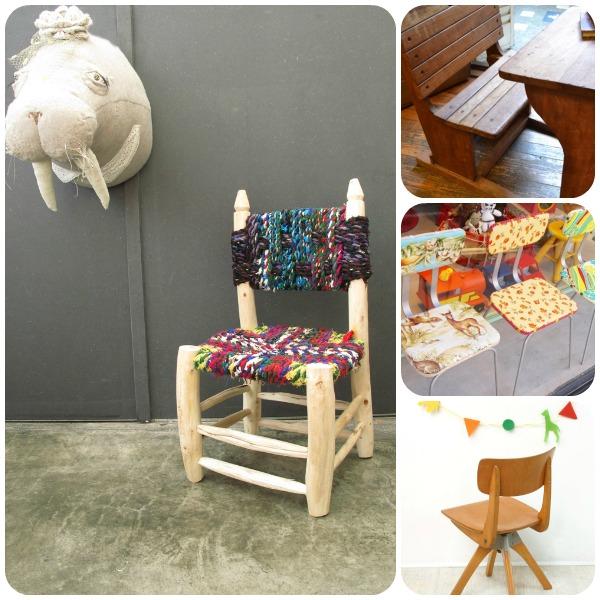 Ideas para la decoraci n 39 vintage 39 de la habitaci n de los for Sillas para habitacion