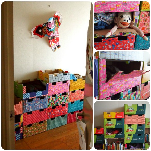 Es m s divertido jugar con una caja de cart n - Caja decorada con fotos ...