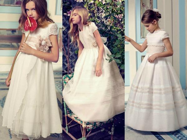 Así son los primeros vestidos y trajes de Comunión de 2014