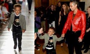 Egypt, el hijo de tres años de Alicia Keys, debuta en el desfile infantil de Ralph Lauren