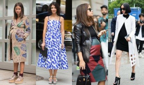 Las premamás de la 'fashion week'