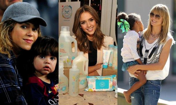 Shakira, Jessica Alba y otras mamás emprendedoras en el universo infantil