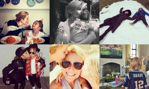 'Celebrity moms': Las fotos más tiernas del año en Instagram