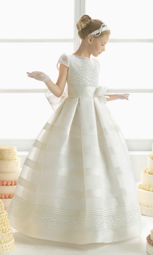 vestidos de primera comunion beige