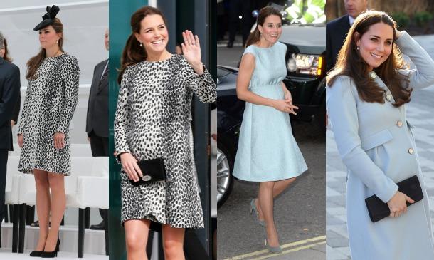 Todos los 'looks' premamá de la Duquesa de Cambridge, mes a mes