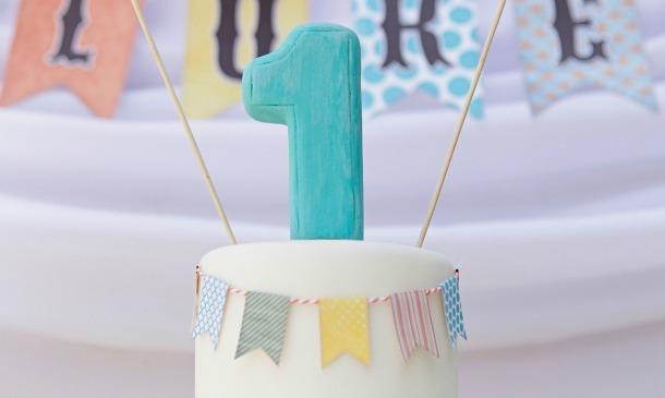 Inspiraci n tartas para el primer cumplea os del beb - Decoracion cumpleanos bebe 1 ano ...