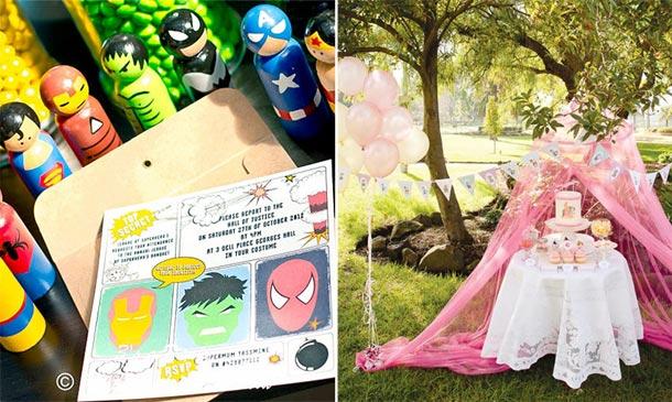 Fiestas temáticas 'DIY': Princesas y superhéroes