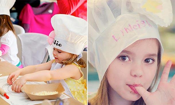 Planes divertidos para pequeños 'chefs'
