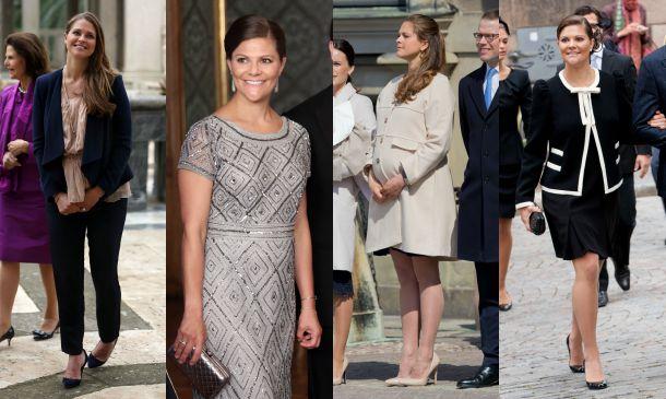 El estilo premamá de las Princesas de Suecia