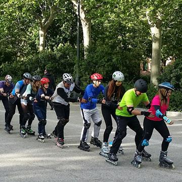 Patina por Madrid Río y disfruta de la primavera junto a tus hijos